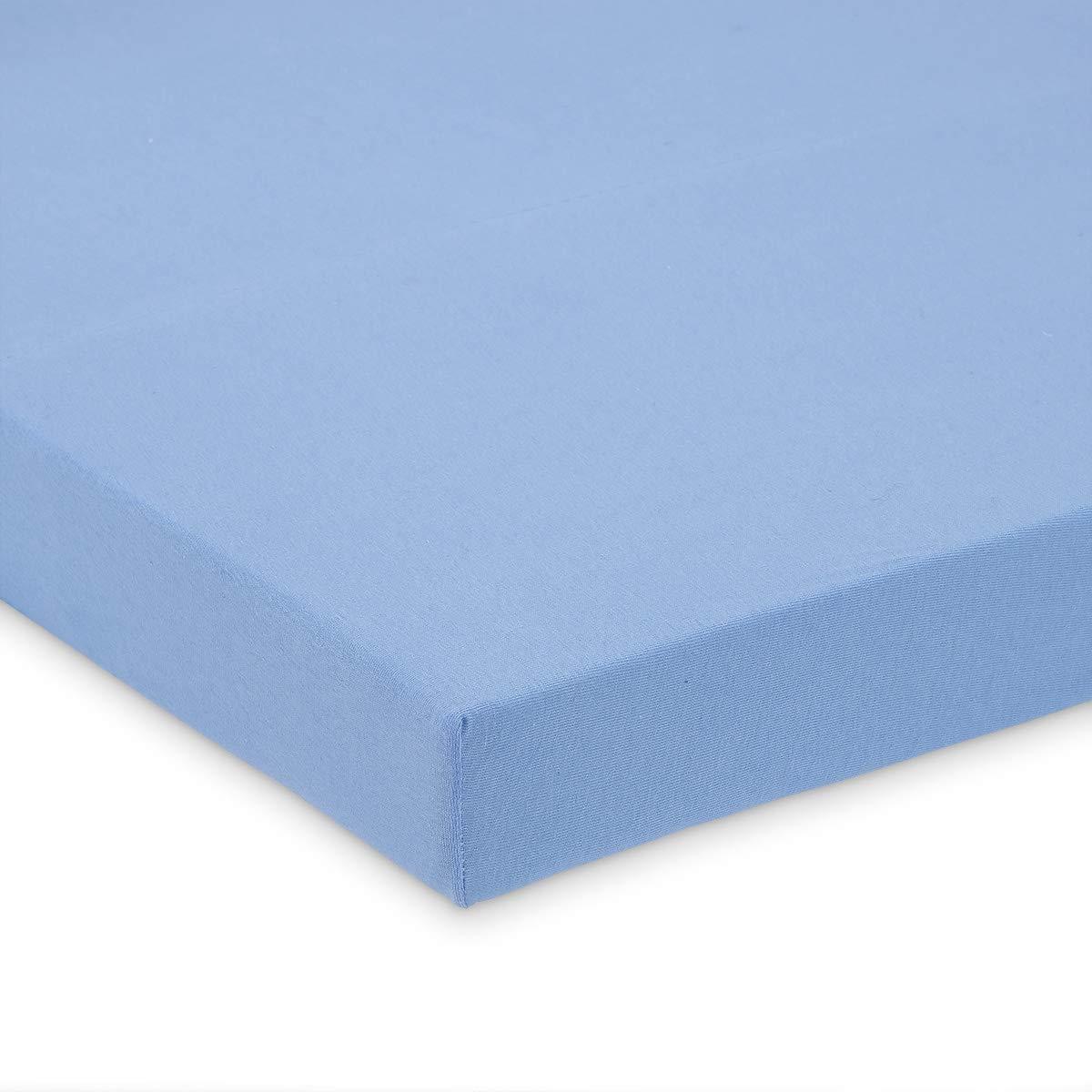 FabiMax 2699 Jersey Spannbettlaken f/ür Laufgitter 75x100 cm blau