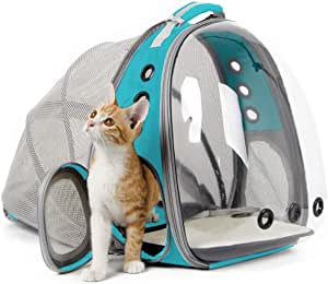 BAGLHER Pet Carrier Backpack,Ventilated Design,Pet Travel Backpack with Comfortable Shoulder Straps,Thicker Bottom Support,Two-Way Entrance Pet Carrier Backpack.