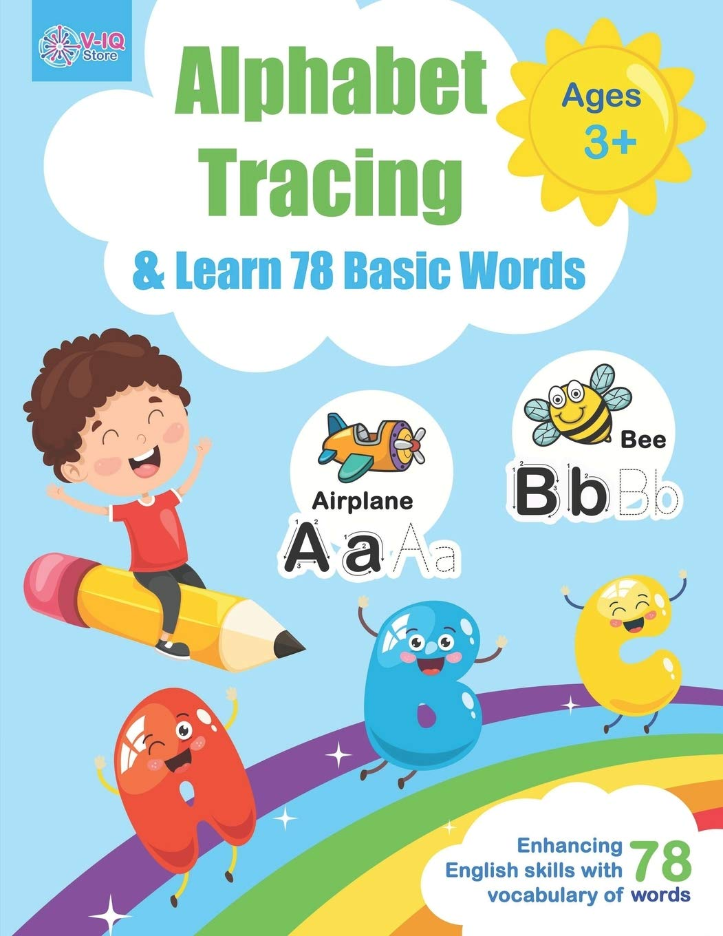 Buy Alphabet Tracing and Learn 78 Basic Words: Workbook for Pre K and  Kindergarten Ages 3-5 years old to practice writing and learning vocabulary,  ... vocabulary words. (Letter Tracing Practice) Book Online