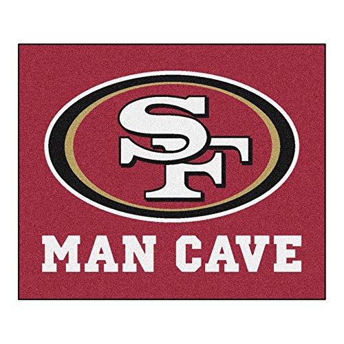 Fanmats 14367 NFL San Francisco 49ers Nylon Universal Man Cave Tailgater Rug