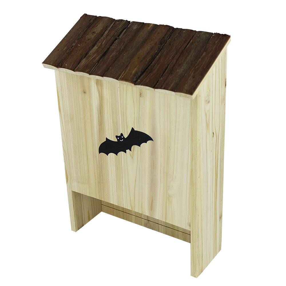 Beaks And Paws B&P Natural Wooden Bat House Large - Premium Cedar Bat Nest Single Chamber Bat Shelter Solid Wood Cottage by Beaks And Paws (Image #3)