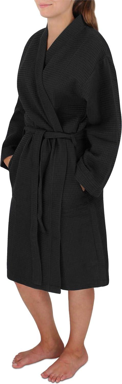 Normani Damen Bademantel Langer Langer Langer Kimono mit Waffeloptik B07GH5PJT6 Bademntel 26c911