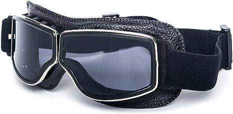 Motorcycle Vintage Aviator Pilot Goggles Cruiser Scooter Helmet Eyewear Glasses