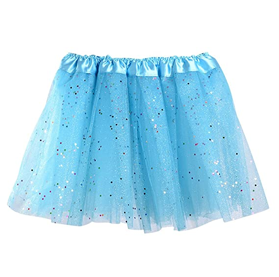 ... Niñas Disfraces Con Tutus Disfraz Tutú Pettiskirt Volantes Tulle Ballet Pollera de Tul Fiesta Falda Capa Cortas Princesas Danza Mini Azul Eléctrico: ...