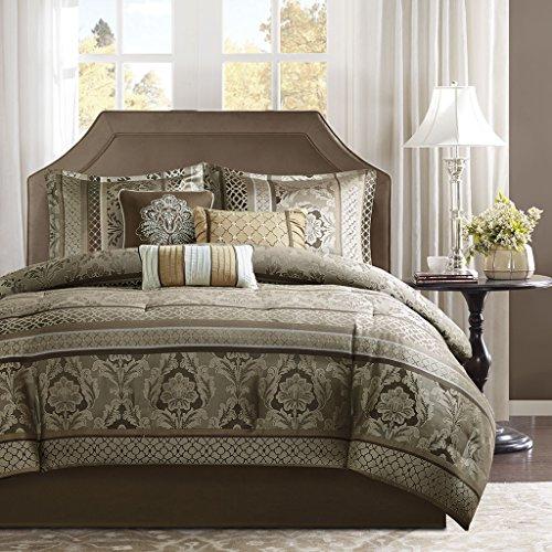 - Madison Park Bellagio Comforter Set, Cal King, Brown/Gold