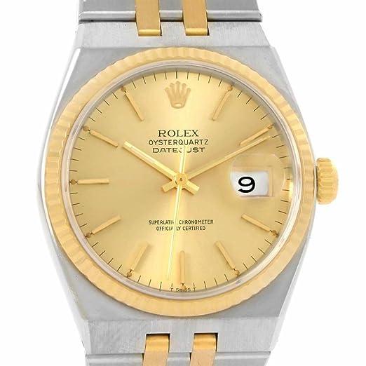 Rolex oysterquartz cuarzo mujer reloj 17013 (Certificado) de segunda mano: Rolex: Amazon.es: Relojes