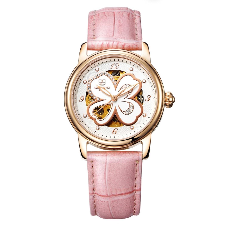 Automatische mechanische Uhr Lady-Hohlen Water resistant Zeitmesser- einfach und lÄssig Uhren-J