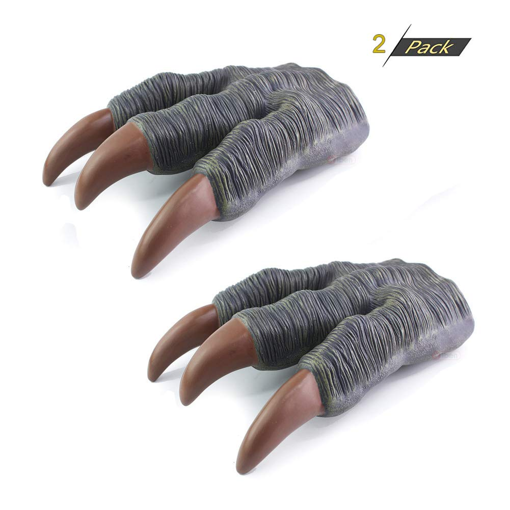 debieborahtoys 2pcs Dinosaur Claw Gloves Jurassic World Toy Hands Halloween Party Cosplay Kid Trick Prop Toy for Children Kids Gift