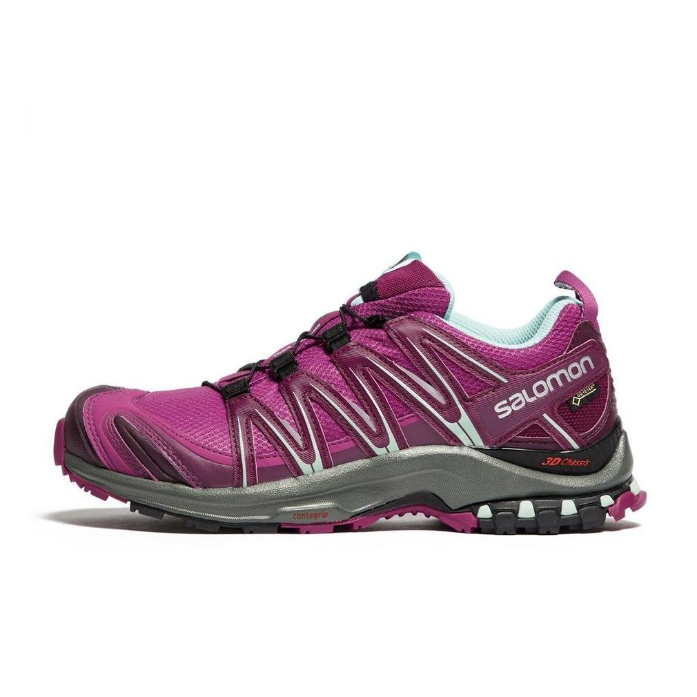 Salomon XA Pro 3D GTX, Calzado de Trail Running para Mujer 37 1/3 EU|Morado (Hollyhock/Dark Purple/Eggshell Blue)