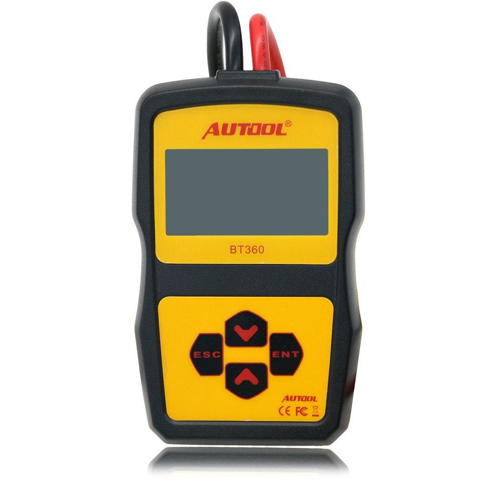 AUTOOL BT360, tester per batteria di auto, 12 V, analizzatore di stato CCA 100-2400 per flusso regolare, avviamento automatico e analizzatore diagnostico per sistema di ricarica TuLanAuto