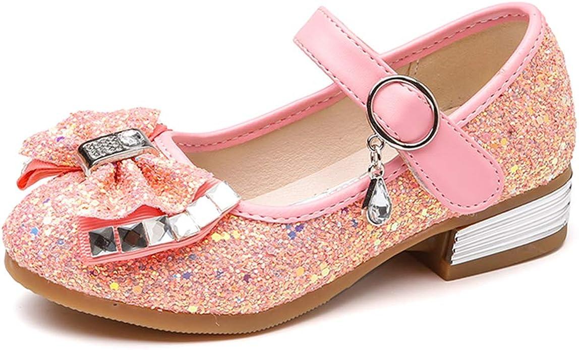 PINK SPARKLE TODDLER//LITTLE GIRL GLITTER  BALLET FLATS DRESS PARTY SHOES