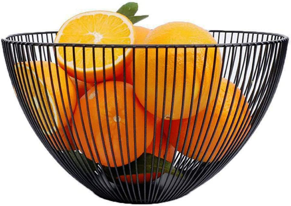 Fruit Bowl Fruit Dish Basket Metal Wire Vegetable Bowl Dessert Pastry Cake Stand for for Wedding, Xmas/Birthday Party, Holiday Dinners, Serving Platter Tea Stand Trays (Fruit Bowl)