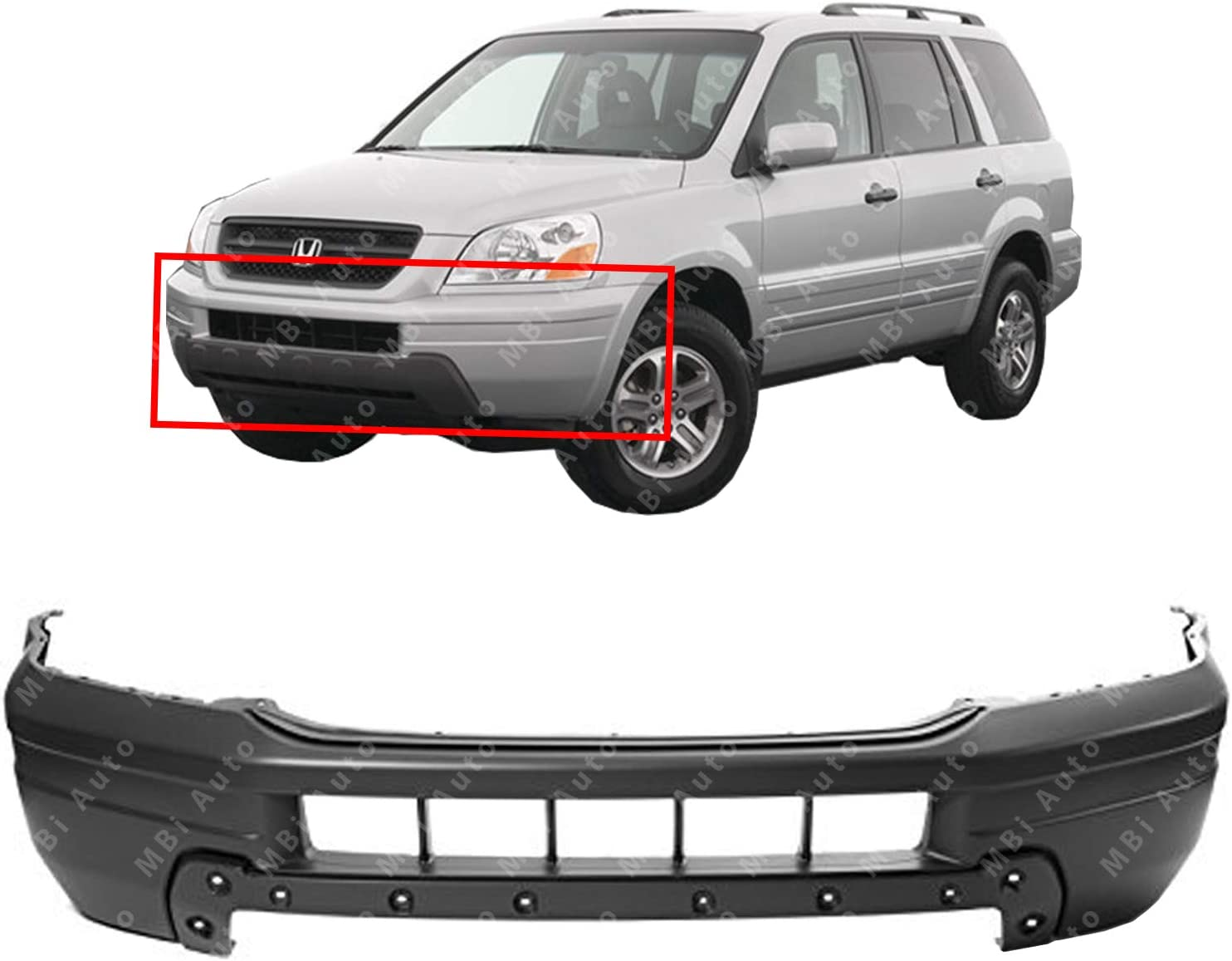 Perfect Fit Group H011733 Pilot Front Bumper Absorber Impact
