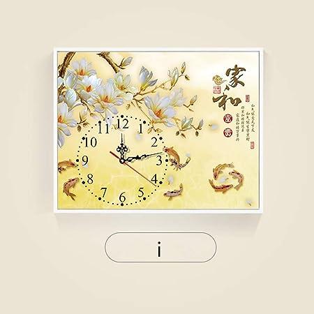 Linshuai Peinture Décorative Avec Horloge Couvercle Mètre