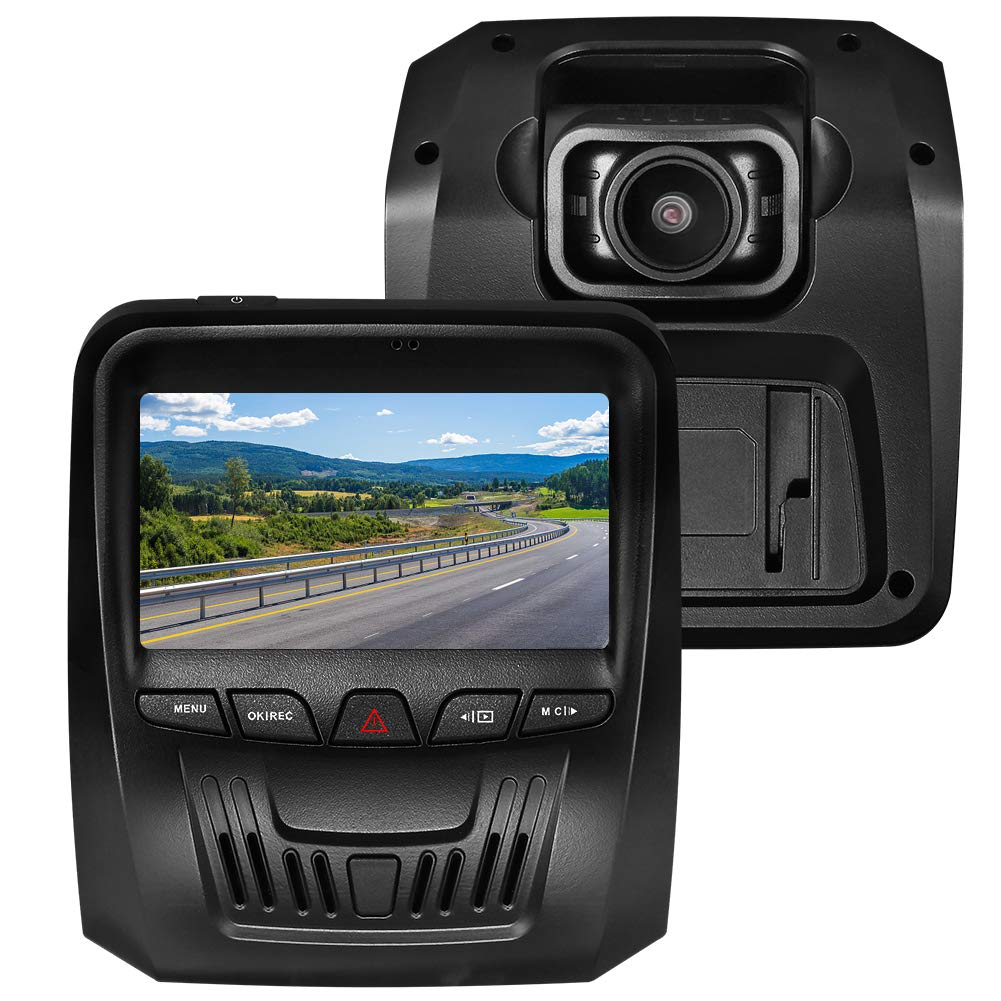 Dash Cam Front and Rear Full HD 1080P Car Dash Cam, RegeMoudal dash cam with night vision function, 170° Wide Angle, G-Sensor, Loop Recording, Parking Monitor, Motion Detection 170° Wide Angle Rocket Roar RR-JLYAM10002-EU