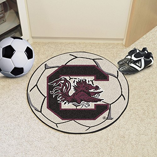 NCAA University of South Carolina Gamecocks Soccer Ball Mat Round Area Rug by Unknown (Image #2)