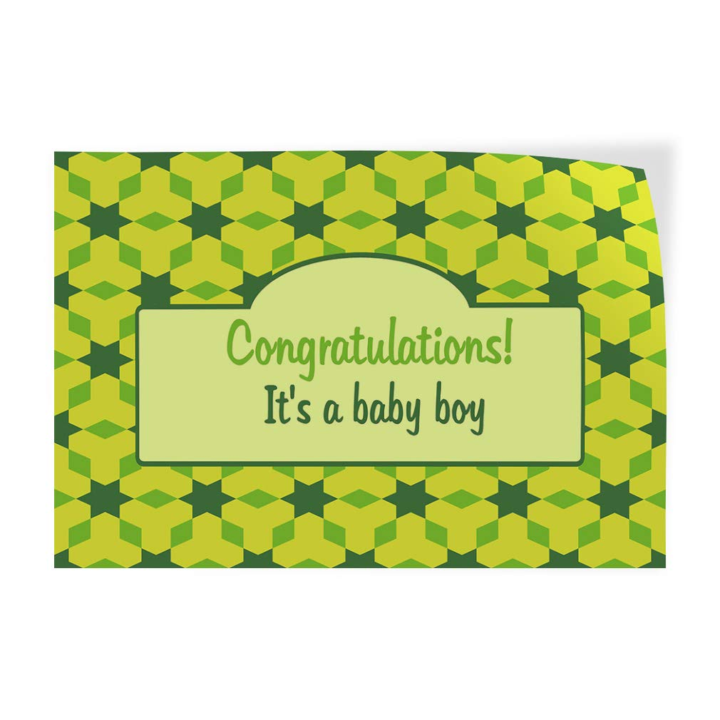 14inx10in, Decal Sticker Multiple Sizes Congratulations Its a Baby boy Green Lifestyle Congratulations Its a Girl Outdoor Store Sign Green