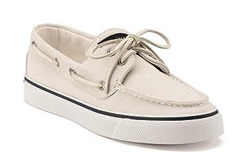 Sperry Top-Sider Damen Canvas Bootsschuh Bahama weiß, Größe:37.5/6.5