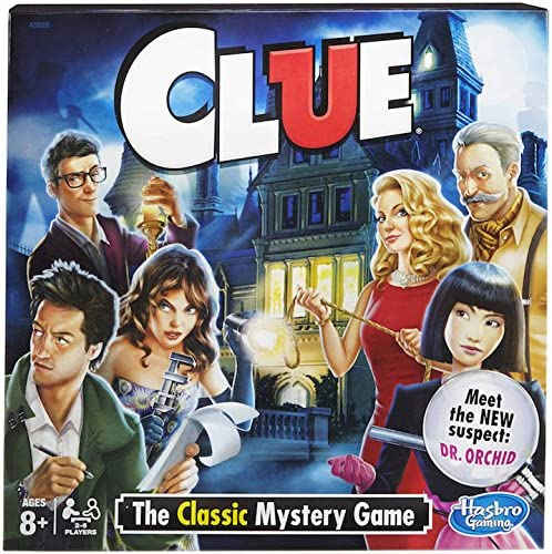 Amazon.com: Hasbro Clue Board Game - The Classic Mystery: Toys & Games