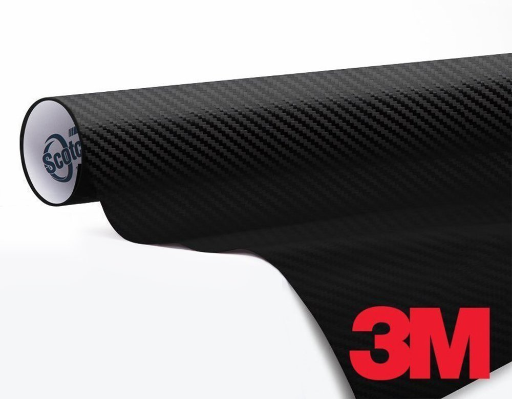 3M 1080 Carbon Fibre Black Air-Release Vinyl Wrap Roll Including Toolkit 2ft x 5ft