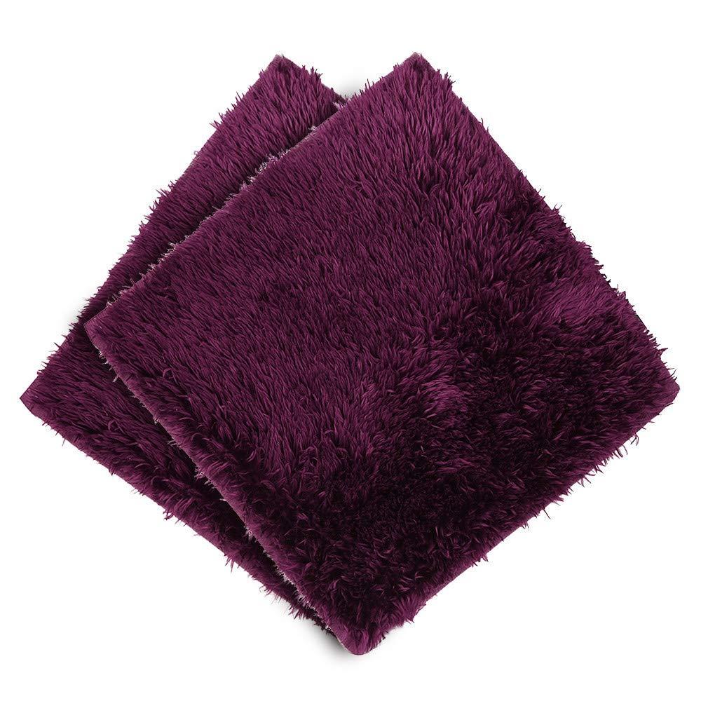 Absorbent Soft Bath Bedroom Floor Square Mat Shower Rug Non-slip 5PC