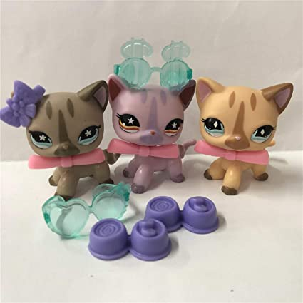 Amazon.com: Aprilcaty con accesorios de pelo corto LPS gato ...