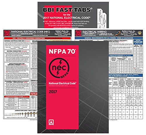 NFPA 70 2017: National Electrical Code, NEC, Paperback, NEC Fast Tabs, NEC Quick Card and Electrical Wiring Quick Card, 2017 Edition, Package by NFPA-BB