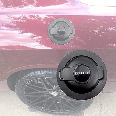 For Dodge Challenger Fuel Door, Fuel Filler Black Gas Cap For 2008-2020 Challenger, Gas Cover 68250120AA: Automotive
