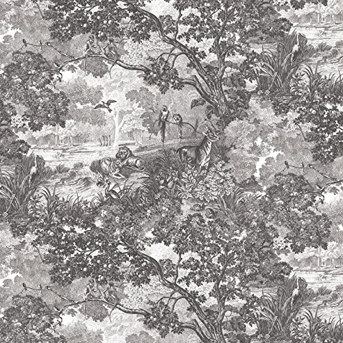 RoomMates Jungle Toile Peel and Stick Wallpaper ()