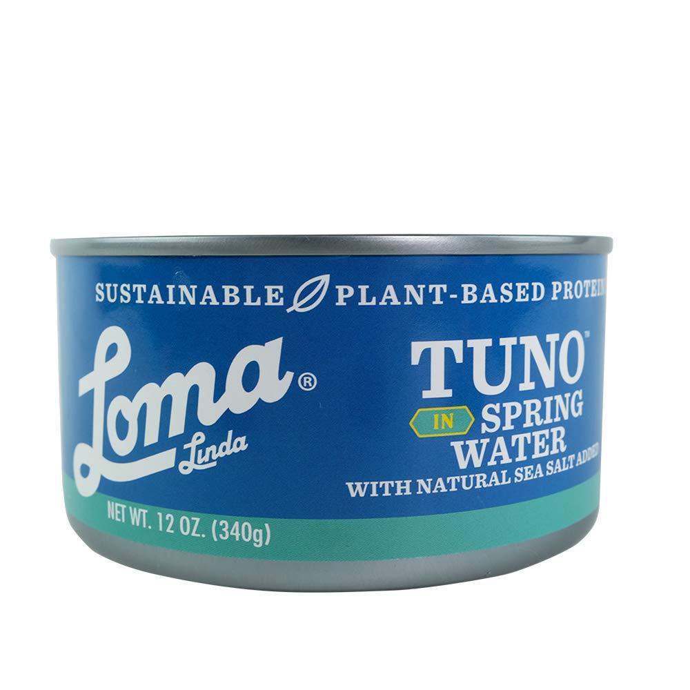 Loma Linda Tuno - Plant-Based - Spring Water (12 oz) - Non-GMO, Ocean Safe, Omega 3, Seafood Alternative