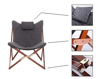 Amazon.de: Suhu Klappstuhl Camping Stuhl Lounge Sessel Modern Design Retro  Stühle Liegestuhl Klappbar Gartenliege Auflagen Hochlehner TV Relaxliege  Mit ...