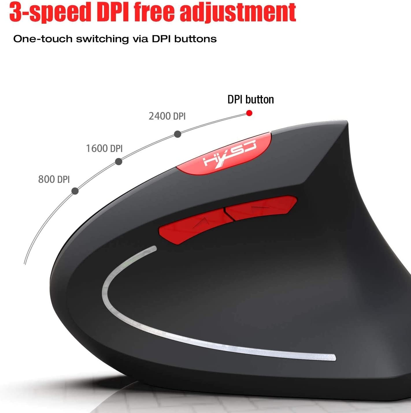 Color : B LUGEUK Bluetooth Mouse Wireless Mouse Prevent Mouse Hand Vertical Mouse Support Ergonomic Dpi Adjustable