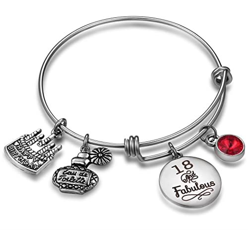 NBE Collection Birthday Gifts For Her Expandable Bangle Bracelet W Birthstone Charm Women Girls