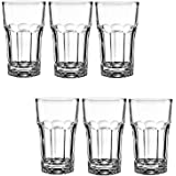 Frabjous Clear Glass Made Water Glasses Juice Glasses Tumblers for Home, Set of 6, 330 ml