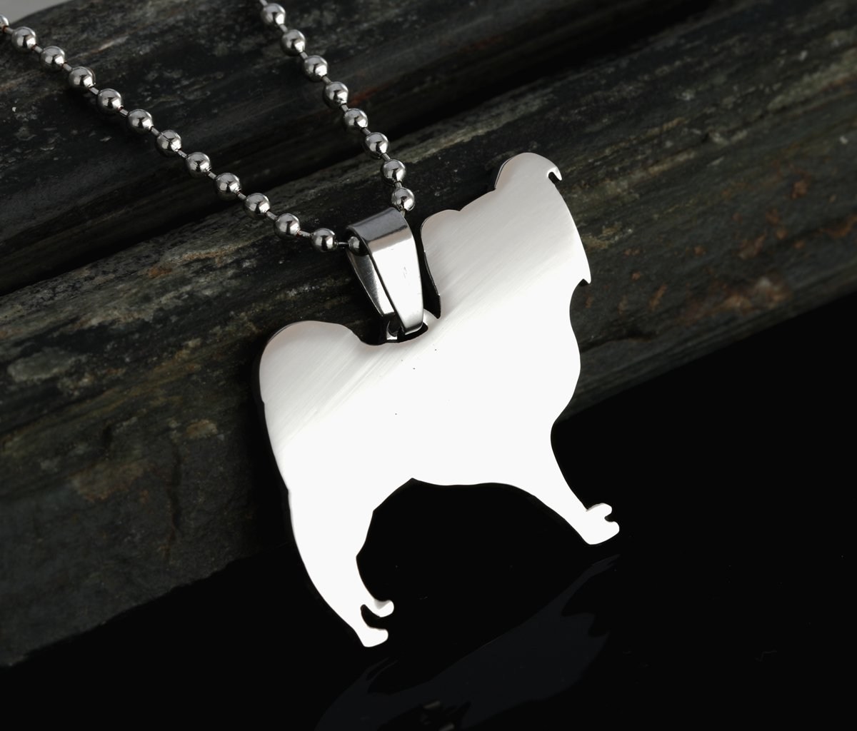 Stainless Steel Papillon Continental Toy Spaniel Butterfly Pet Dog Tag Charm Pendant Necklace