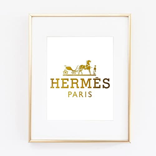 Gold Foil Art Wall Print Distance Prada Like Marfa Gossip Girl Fashion Vouge Color White