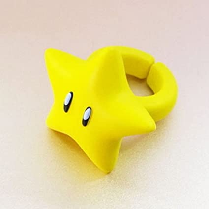 """Super Mario Fashion Ring One Size Fits Most Ring Aprox 1.25/"""" Chain Chomp"""