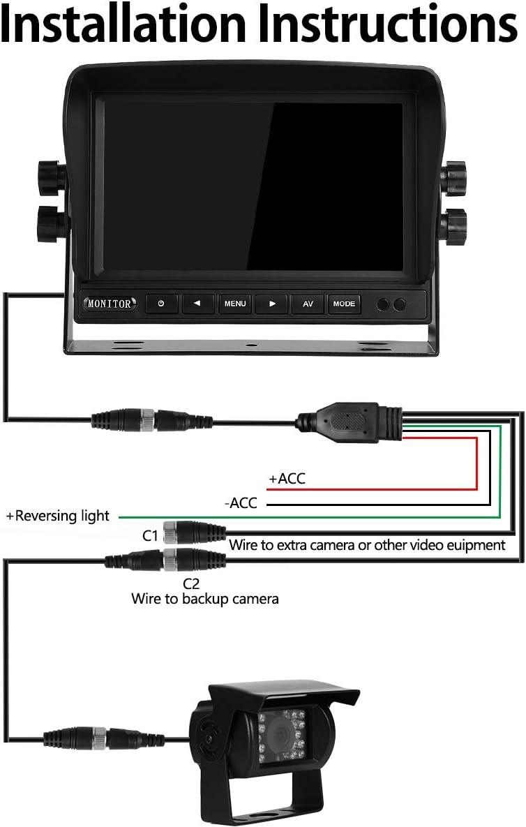 25mm Monitor 4,3 Zoll IR LED´s Rückfahrkamera  170 ° Blickwinkel