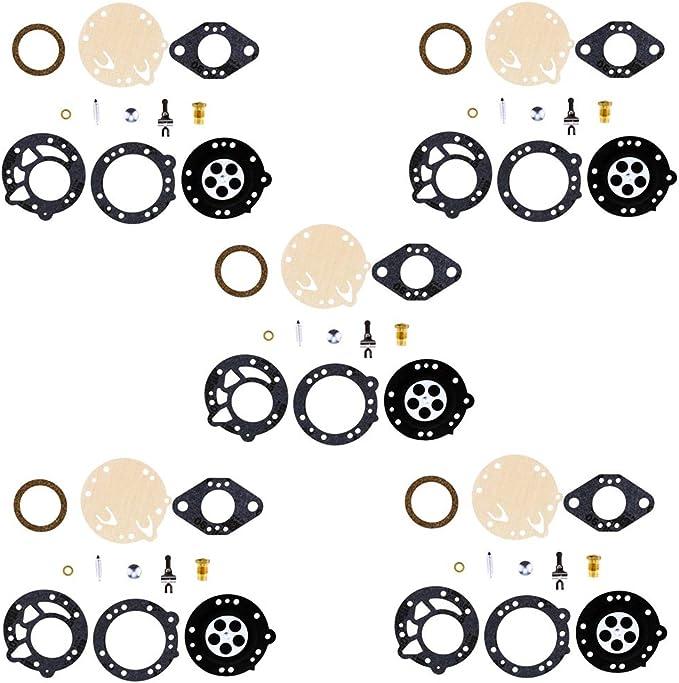 Rebuild Kits QAZAKY 5pc Carburetor Rebuild Kit Replacement for ...