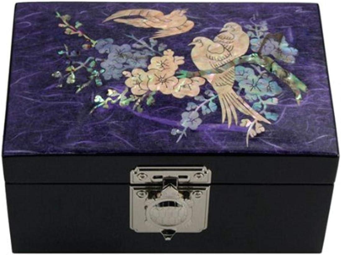 Amazon Com Antique Alive Jewelry Box Bird And Flower Jewelry Box Purple Home Kitchen