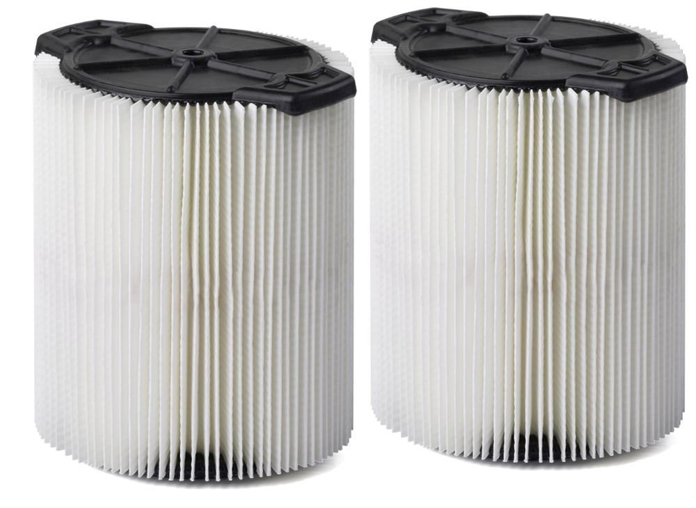 Wet And Dry Cleaner Filter,Miss Flora VF7816TP Standard Wet Dry Vacuum Filters,2-Pack,Shop Vacuum Cleaner Filters,Replaces Red,Stripe Filter,Select Craftsman Shop Vacuum Cleaners 5,Gallon And Larger by Miss Flora