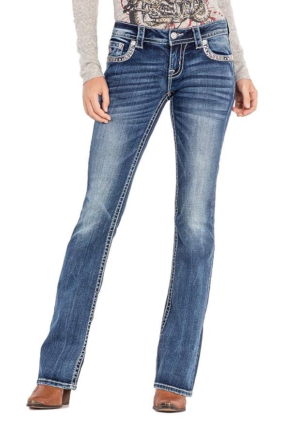 Amazon.com: Miss Me - Pantalones vaqueros para mujer con ...