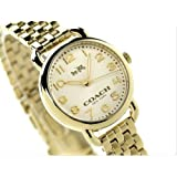 Coach Delancey 14502441 Slim Gold-Tone Stainless Steel Women's Watch