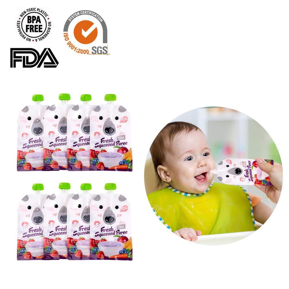 Bolsa de Comida complementaria Reutilizable 8 Paquetes Envisioni Bolsa de Comida para beb/é
