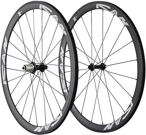 ICAN - Ruedas de Carbono 700C para Bicicleta de Carretera (38 mm ...