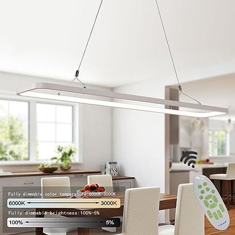 Wonderful ZMH LED 26W Pendelleuchte Dimmbar Esstisch Hängeleuchte Höheverstellbar  Hängelampe Büroleuchte Deckenleuchte Aus PVC Pendellampe Für Wohnzimmer