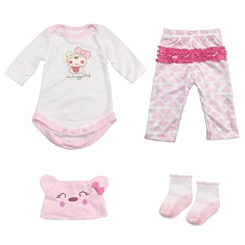 80d7d0913 Amazon.com   Reborn Baby Doll Outfits Accessories 4 Piece Set for 20 ...