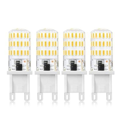 LuxVista 4-packs 5W G9 LED Bombilla de Luz Fría 6000K Luz de Maíz Con