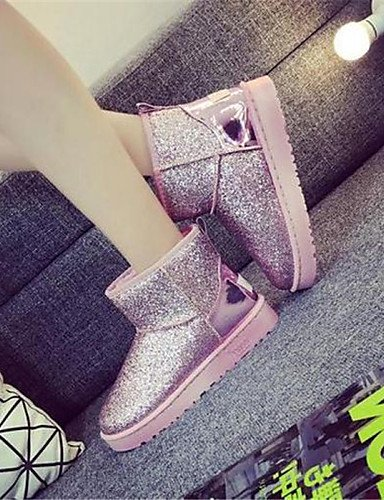 Tacón Negro Plano us5 Pink Tejido Redonda Rosa Mujer us8 Silver Uk6 5 Eu36 Punta Cn39 Zapatos Eu39 5 Casual Cn35 Uk3 Botas Xzz Plata Semicuero De wIWRqtnHnP