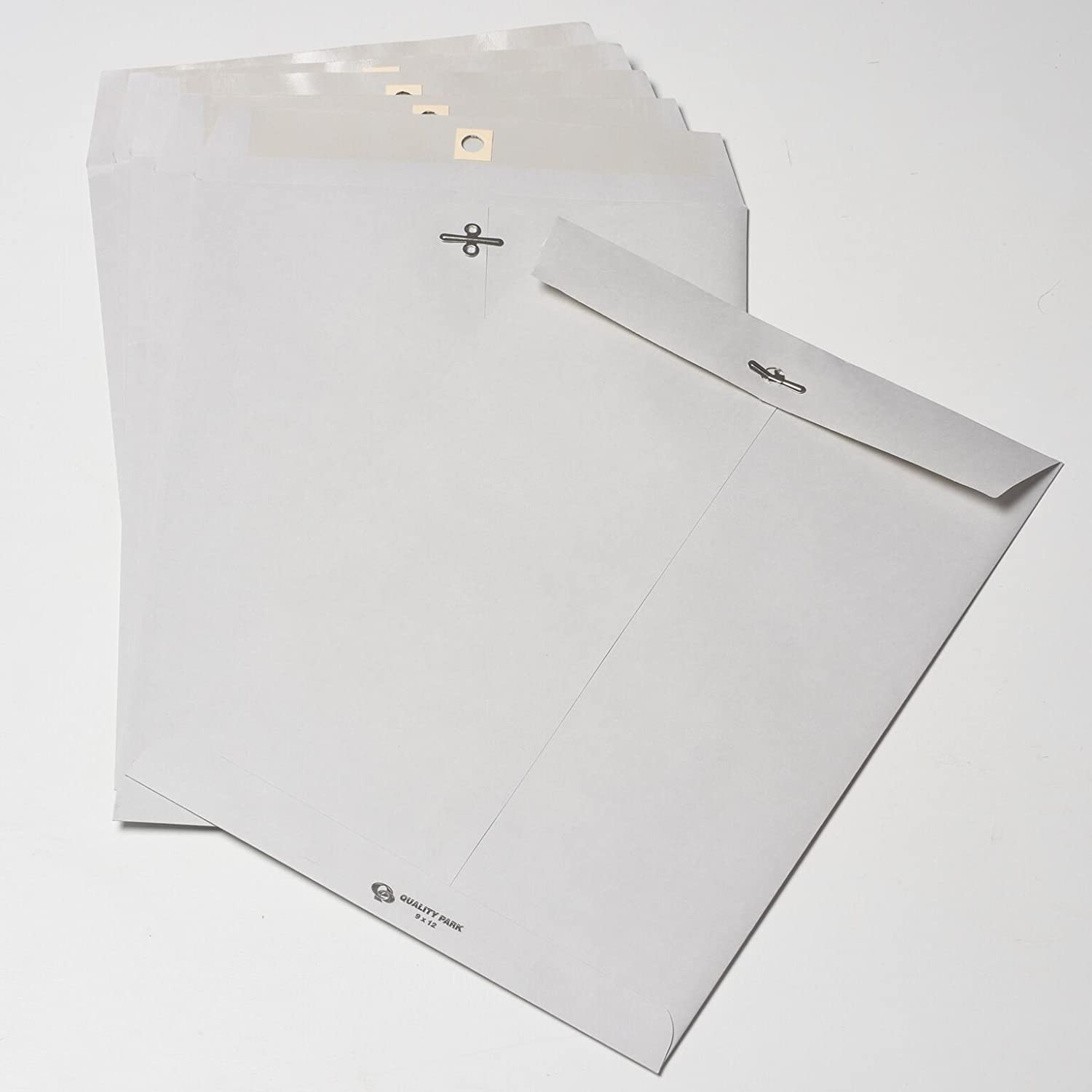 Quality Park, Clasp Envelopes, Gummed, Executive Gray, 10x13, 100 per Box (38597) : Office Products
